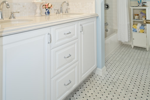 Bathroom Cabinets Painted White Full Overlay