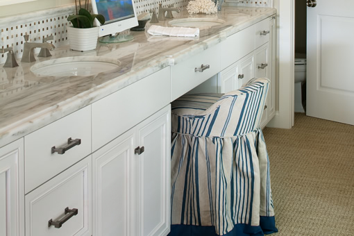 White Painted Bathroom Cabinets Double Sink Vanity Area