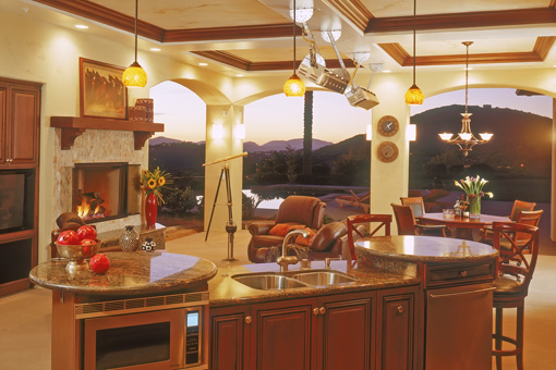 Outdoor Kitchen Cabinets with Cherry Finish Full Overlay and Rope Detail