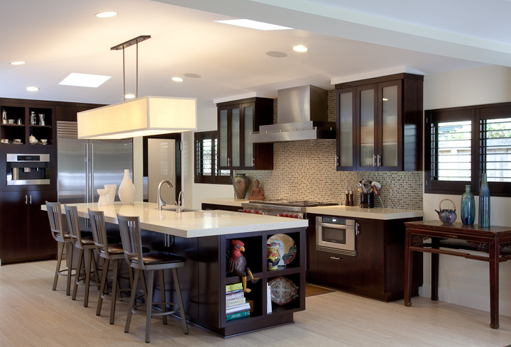 Custom contemporary kitchen cabinets alder wood java for Modern custom kitchen cabinets