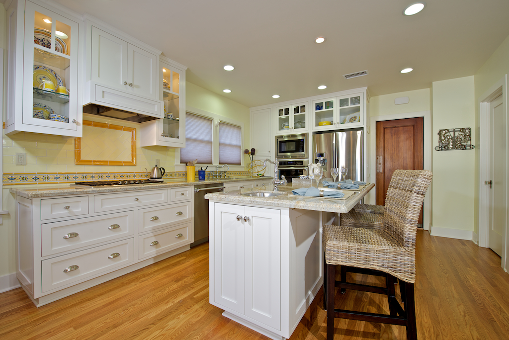Custom contemporary kitchen cabinets alder wood java for Painting wooden kitchen cabinets white