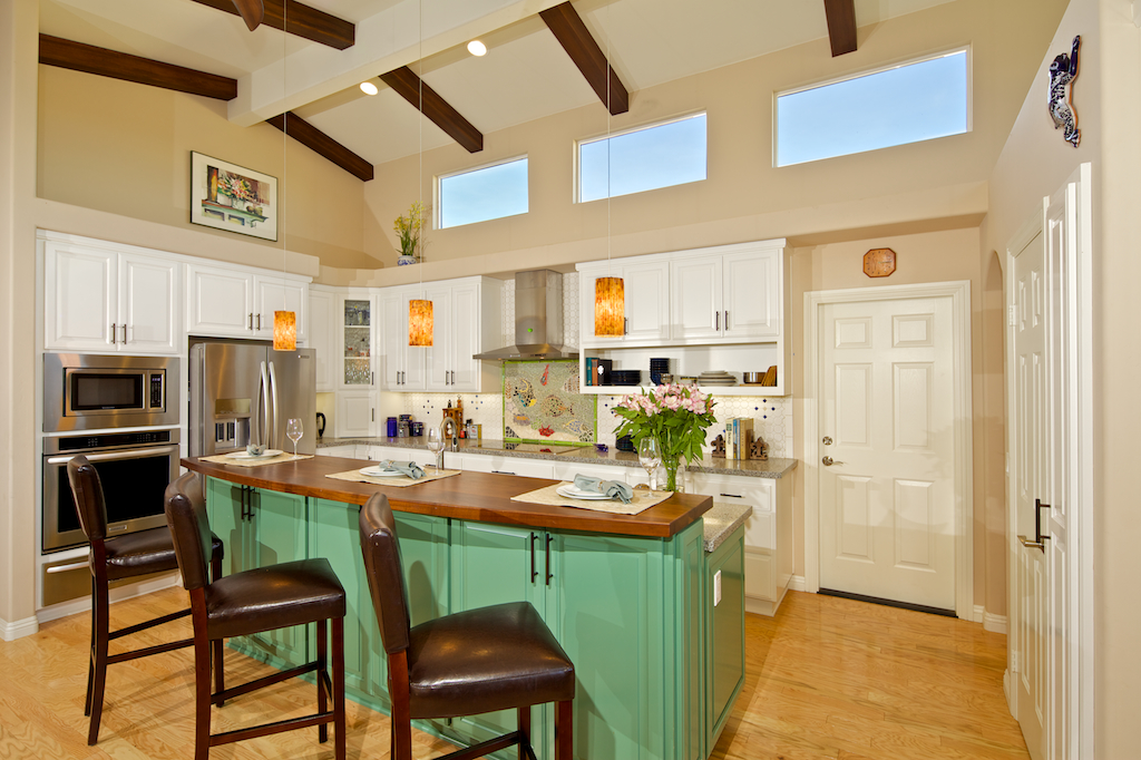 Custom contemporary kitchen cabinets alder wood java for Solid wood white kitchen cabinets