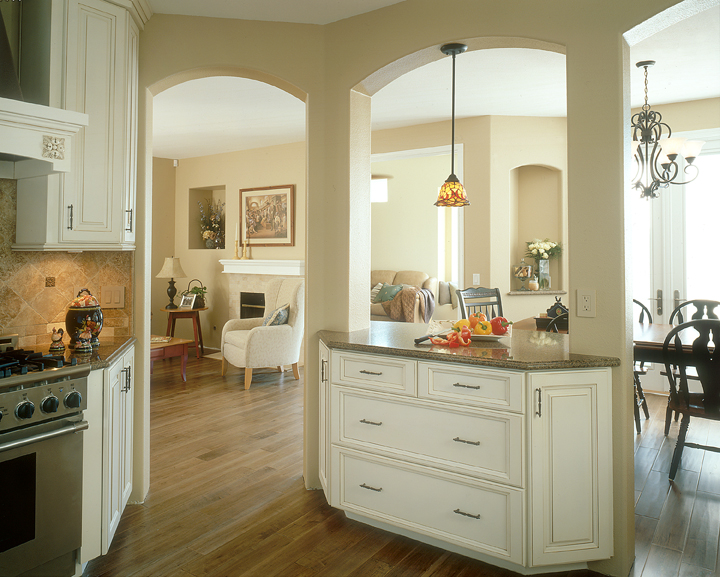 Custom contemporary kitchen cabinets alder wood java for Angled kitchen cabinets